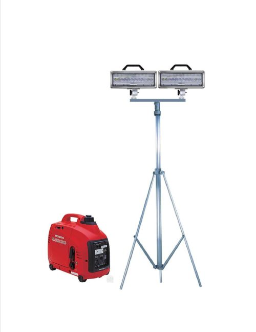 Spectra LED Double lighthead Tripod and generator combo, SPA600-K20-D-1