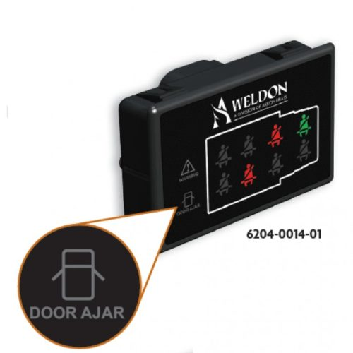 Seat Belt Indicator Ambulance with Door and Warning ICONs and Dim